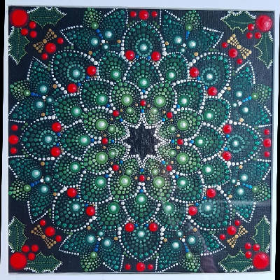 Poinsettia Wreath Mandala