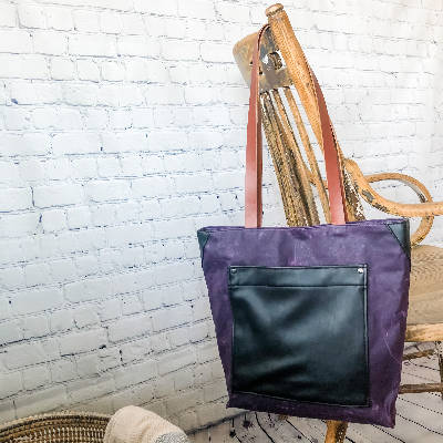 Isabell Bag - Waxed Canvas - Purple