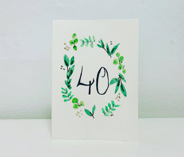 Custom Birthday Card with Wreath