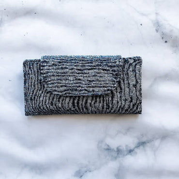 Slimline Wallet - Essex Linen - Charcoal