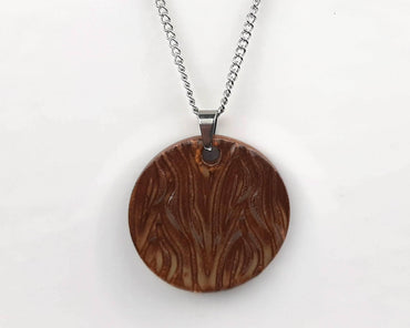 Brown Bark Necklace