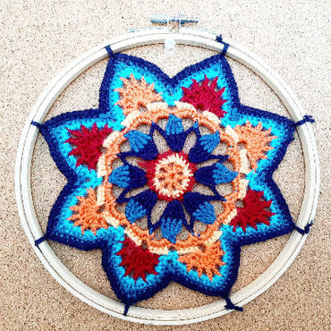 Crochet Mandala Wall - Art