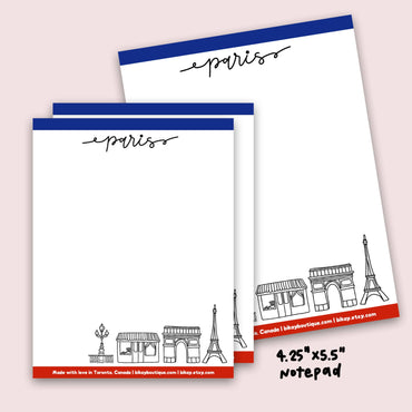"Paris Notepad 4.25""x5.5"""