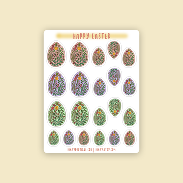 Easter Eggs Sitcker Sheet