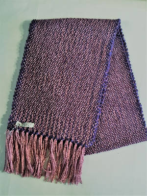 Handwoven matching scarves pink and purple