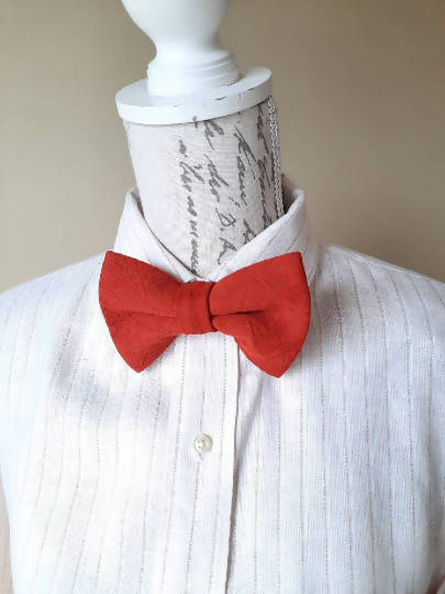 Burnt Orange Handmade Bowtie