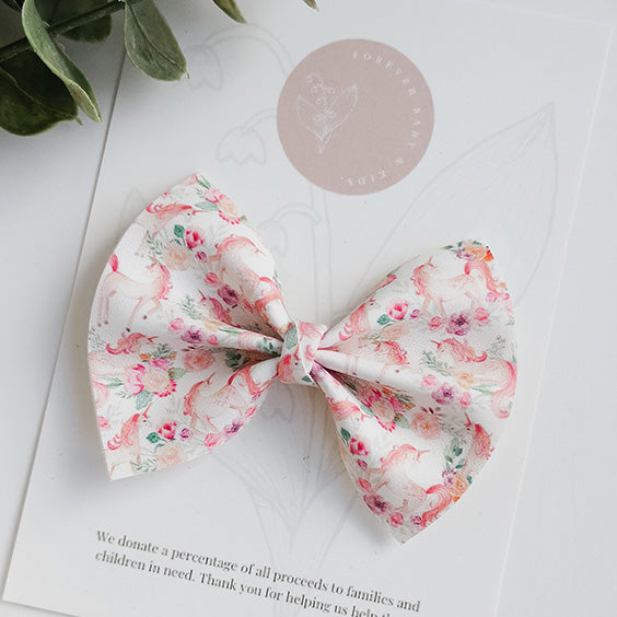 Everleigh Bow (Floral Unicorn)