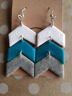 Chevron Celestial Earrings