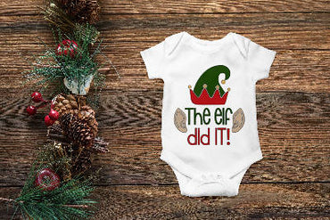 The Elf Did It Onesie