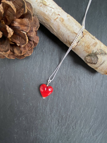 Special Red Glass Heart Pendant/Necklace
