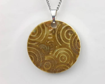 Brown Swirl Necklace