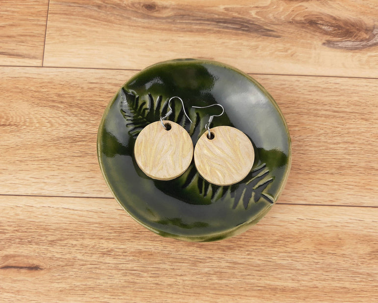 Green Fern Trinket Dish