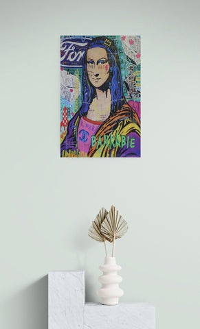 Abstract canvas print, canvas wall art, pop art, wall decor canvas, Mona Lisa