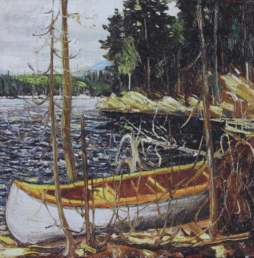 Tom Thomson, group of seven, The Canoe. Canadian artist. canvas wall art, Canvas print, wall decor
