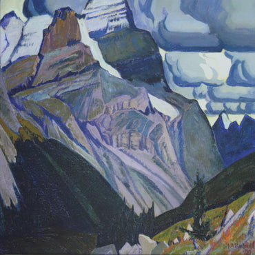Group of seven, wall decor, J.E.H. MacDonald, Dark Autumn, Rocky mountains. Canadian artist. Canvas print, canvas wall art
