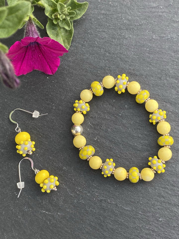 Sunshine Yellow Stretch Bracelet