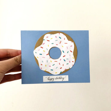 Handcrafted Donut Birthday Cards