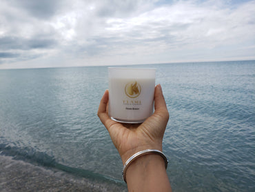 Luxe soy candle. 10 oz. Ocean Breeze.