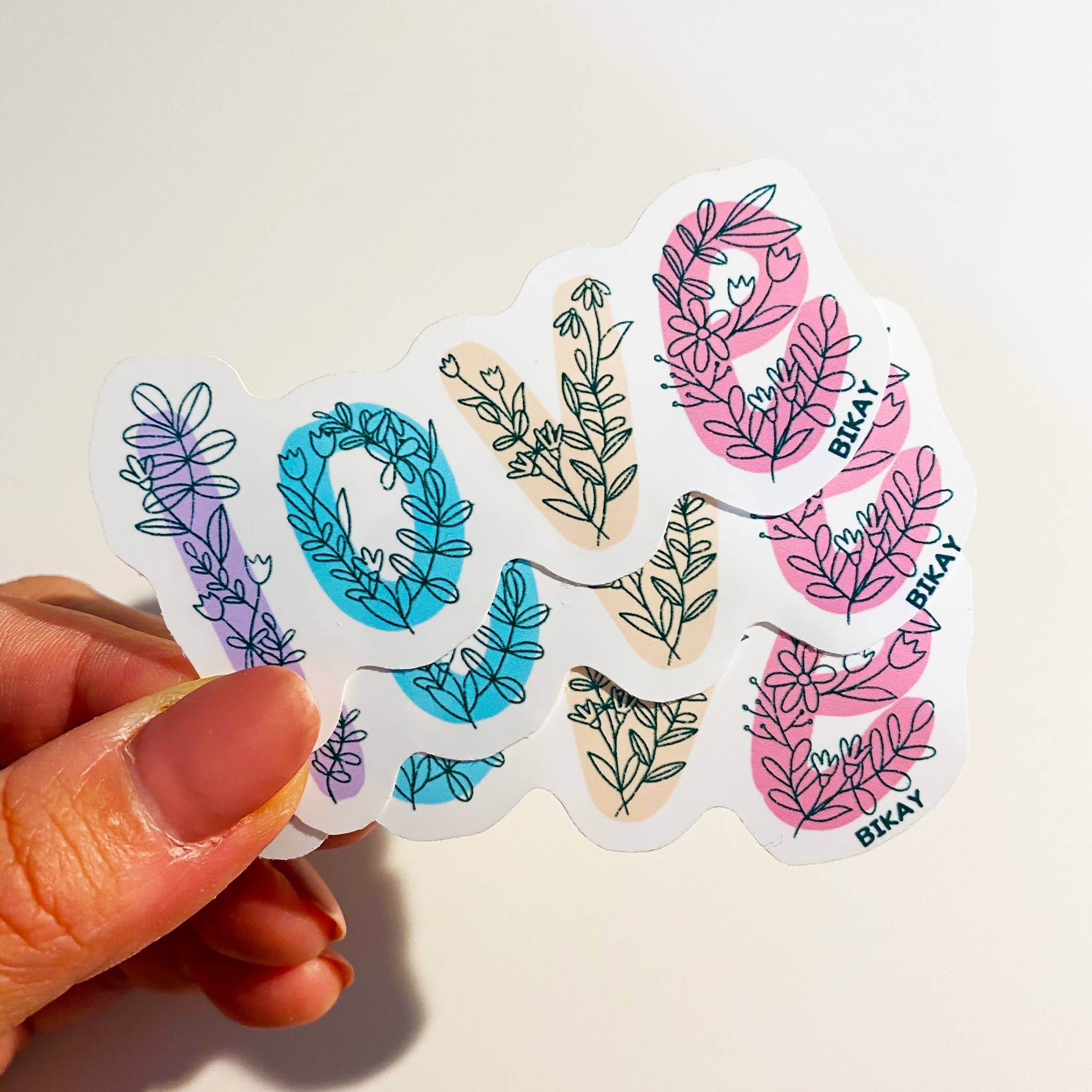 Love botanical Vinyl Sticker