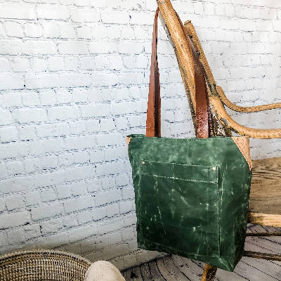 Isabell Bag - Waxed Canvas - Vintage Green