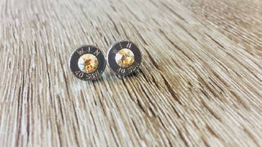 Bullet Stud Earrings - Champagne