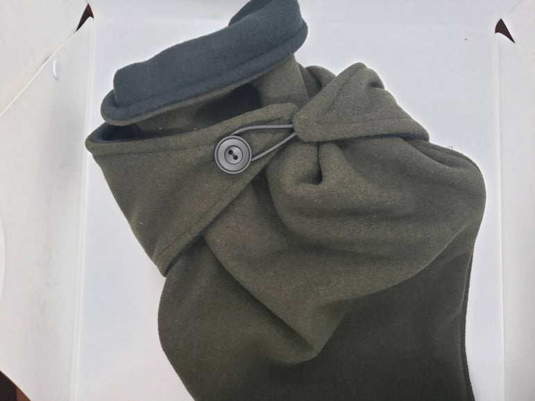 Scarf with heating pad, Olive green