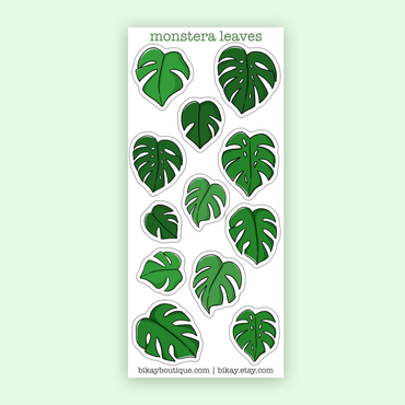 Monstera leaves stickers