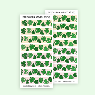 Monstera leaves washi stickers