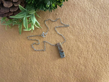 """Inner Beauty, Wisdom & Strength"" Slab Pendant Necklace"