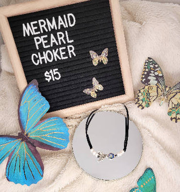 Mermaid choker necklace