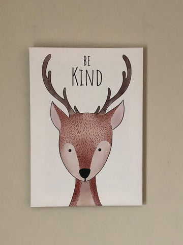 "Nursery, canvas print, wall decor  ""Be kind"""