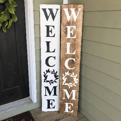 Porch Welcome Sign