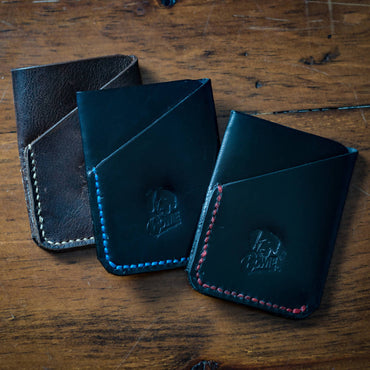 Leather 2 pocket wallet Customizable