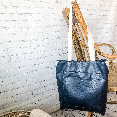 Isabell Bag - Vegan Leather - Navy Blue