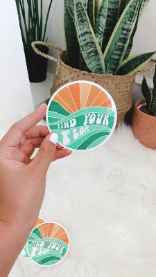 Find Your Flow Sticker