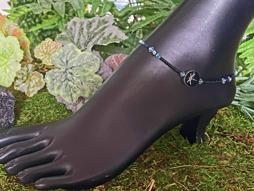 Crystals & Dragonflies Anklet