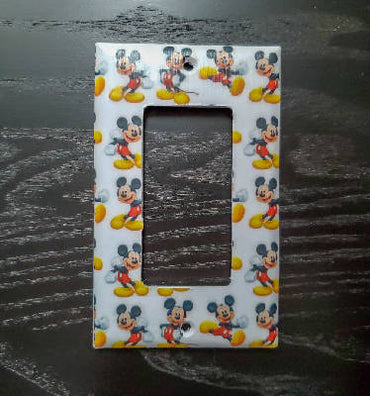 Fancy Handmade Light Switch Cover - Mickey Pattern
