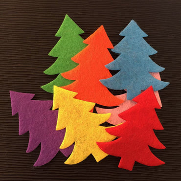 Padded Christmas Tree Scrapbooking Pieces