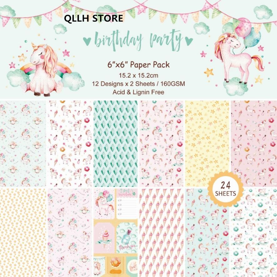 Unicorn Scrapbooking Pad