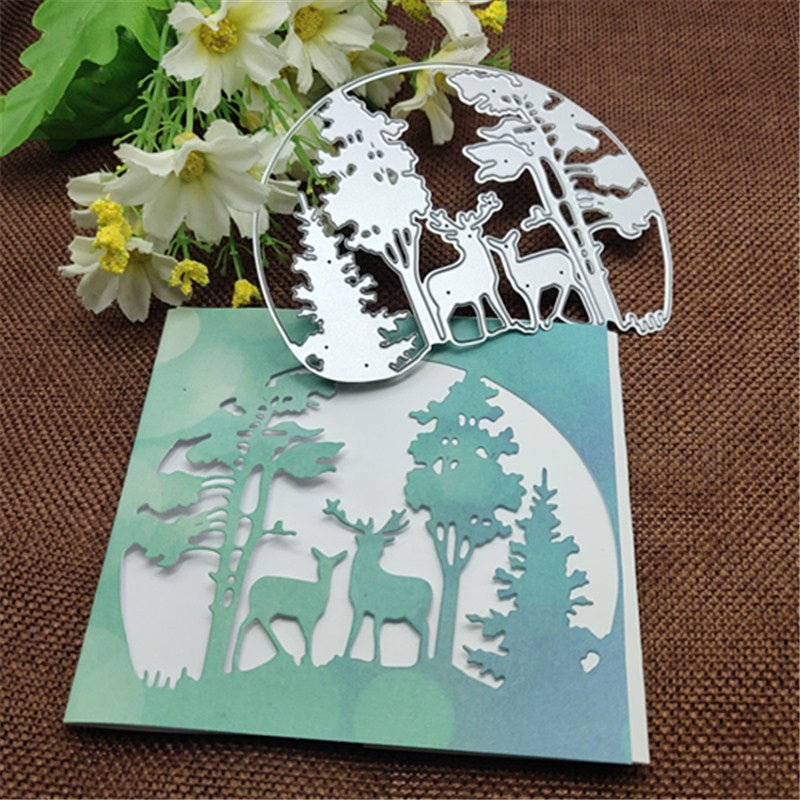 Christmas Tree Animal Deer Metal Die