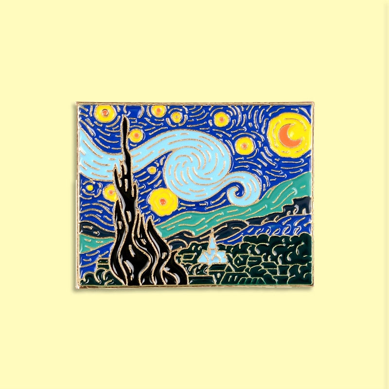 Van Gogh Starry Night Brooch