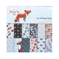 Foxes Scrapbooking Pad