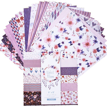Blooming Purple Flower Scrapbooking Pad