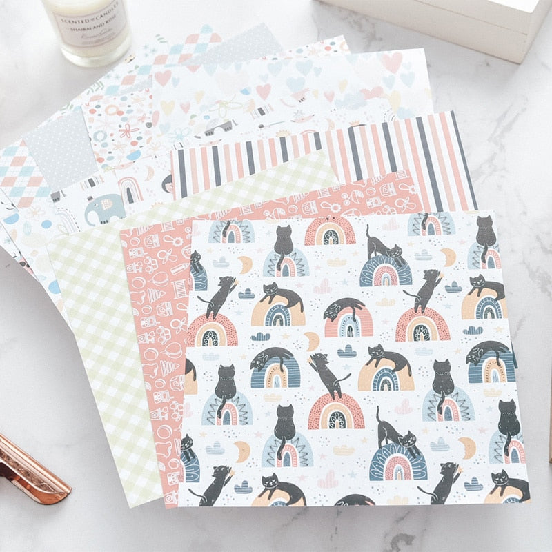 Cute Cat Scrapbooking Pads