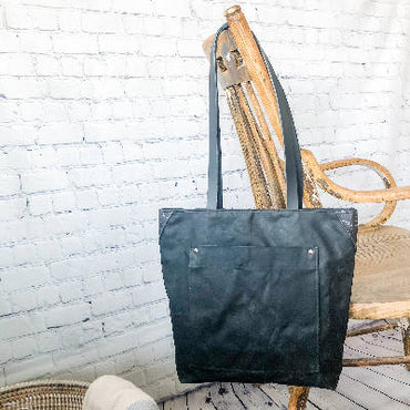 Isabell Bag - Waxed Canvas - Black