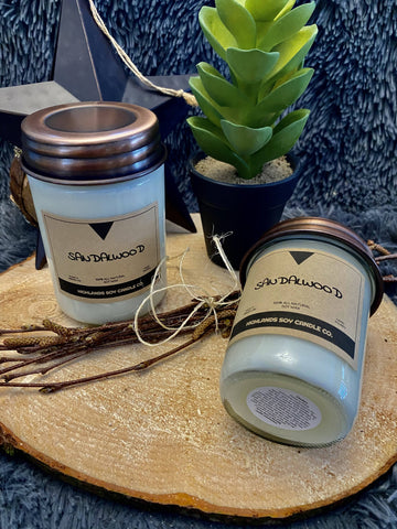 8oz Jar Candle Sandalwood