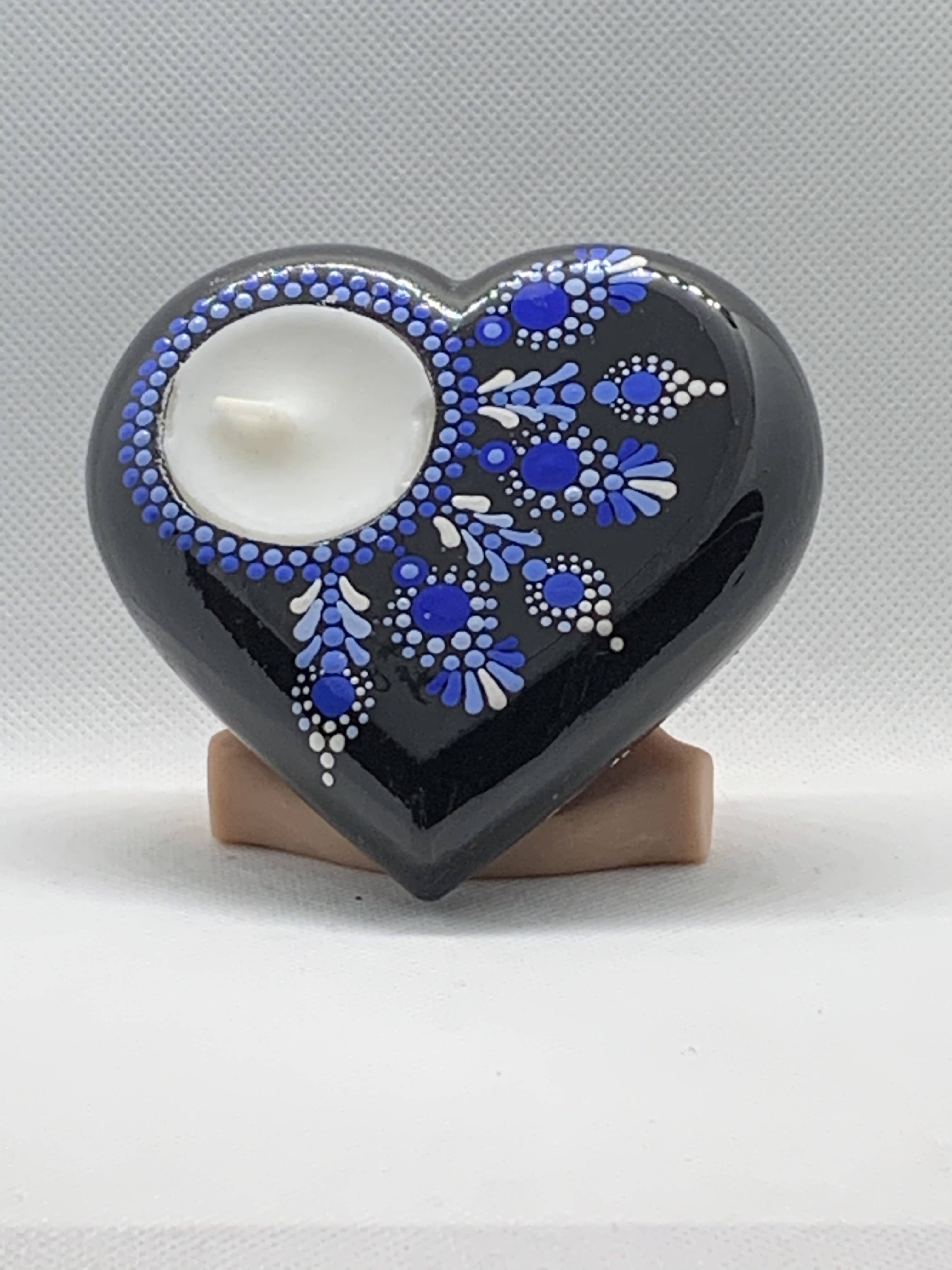 Blue Flower Tea Light