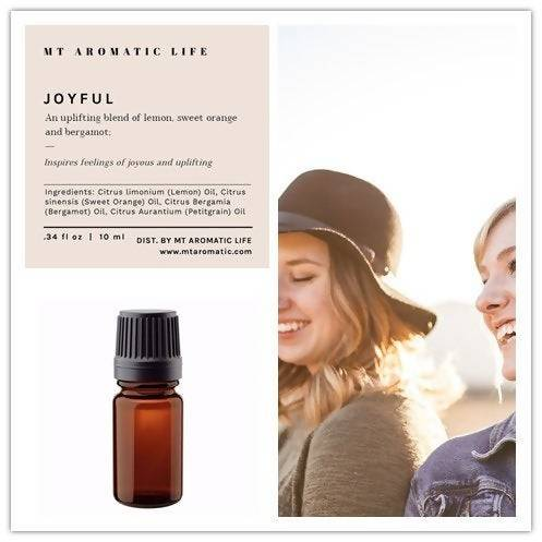 JOYFUL Diffuser Blend - Aroma Diffuser-Uplifting and Energizing Gift-Pure Essential Oils-Natural Remedies for Mood, Focus and Energy
