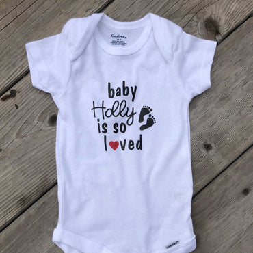Baby Shower Signature Onesie