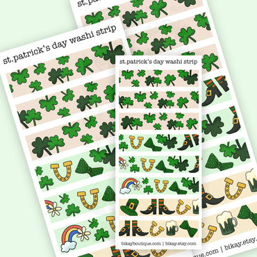 St patricks day washi stickers